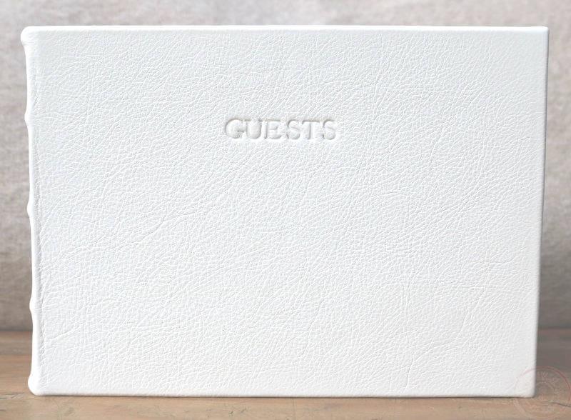 Ongekend Alba Leren Gastenboek Wit GI-43