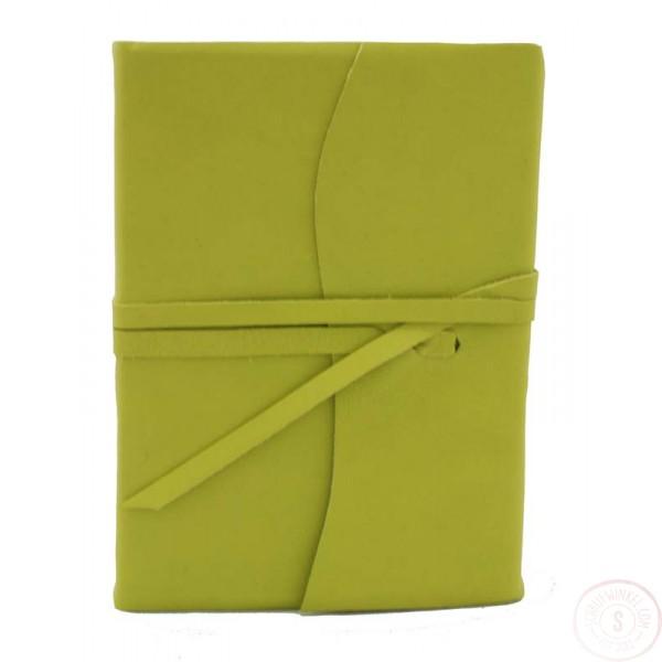 Amalfi Leren Notitieboek Middelgroot Limoen