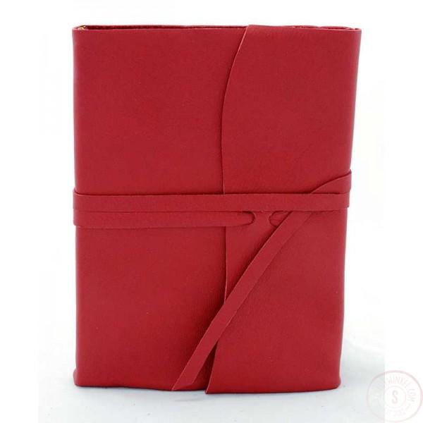 Amalfi Leren Notitieboek Rood