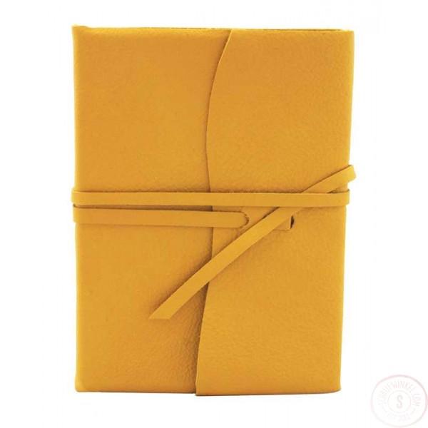 Amalfi Leren Notitieboek Zonnebloemkleur