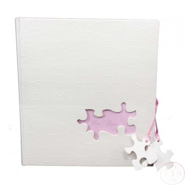 Babyalbum Roze met Puzzelstukjes