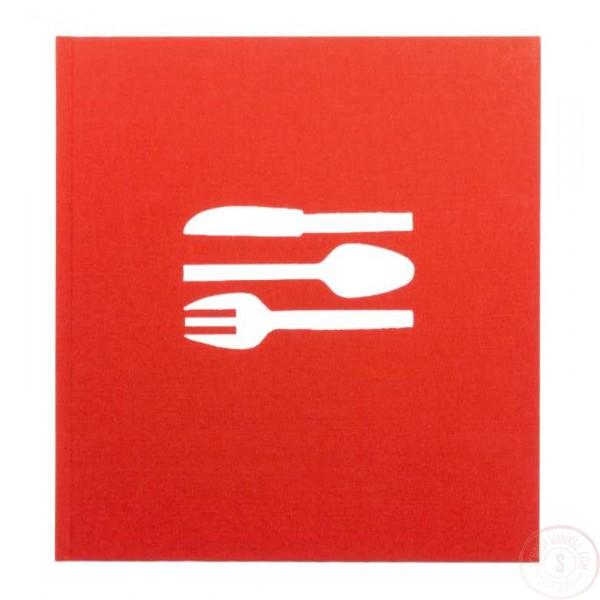 Bindewerk Receptenboek / Kookboek Rood