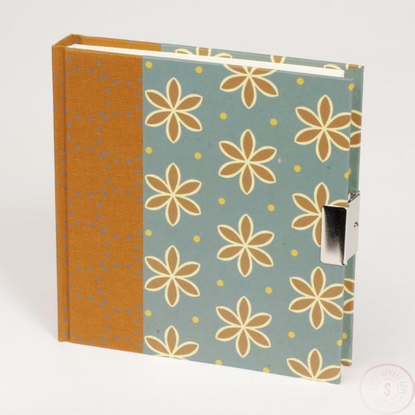 Dagboek Met Slot Oranje Bloemen