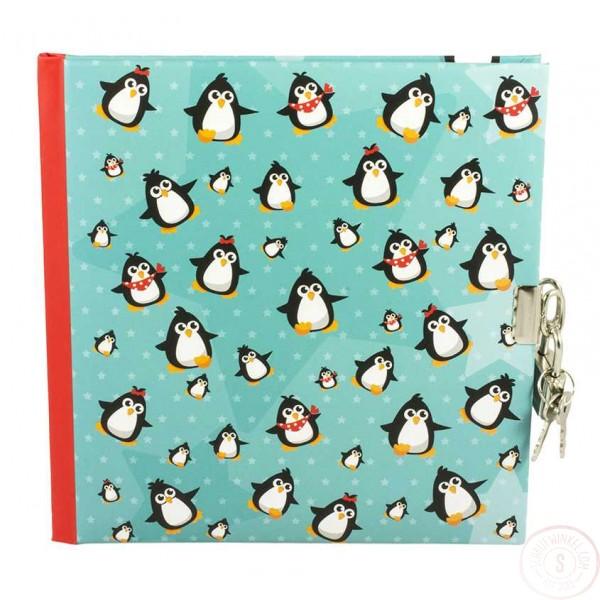 Dagboek Met Slot Pinguins Blanco