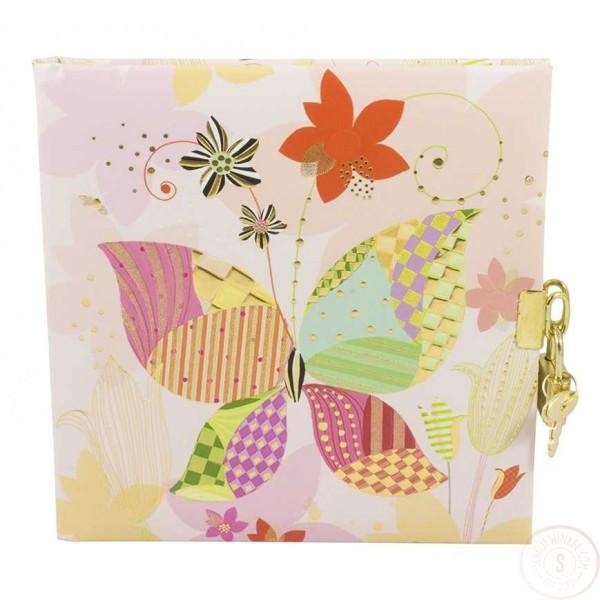 Dagboek met Slot Roze Vlinder