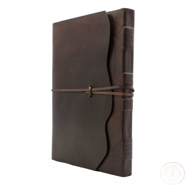 Modena Leren Notitieboek Chocoladebruin Met Handgeschept Papier Extra Luxe B5