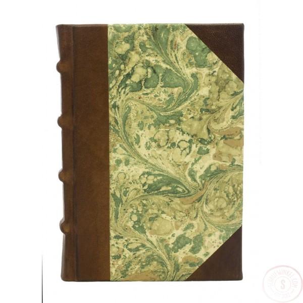 Leren Adresboek Marmo Verde Middelgroot