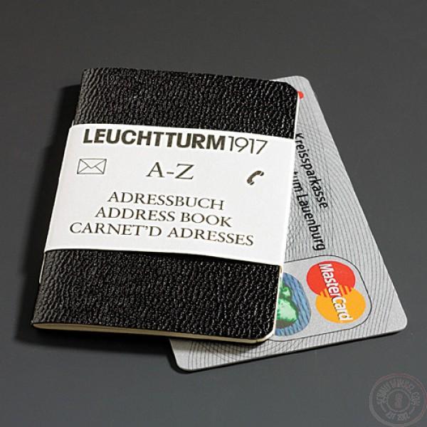 Leuchtturm1917 Adresboek Creditcardformaat Zwart