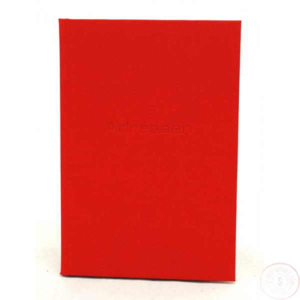 Linnen Adresboek Rood
