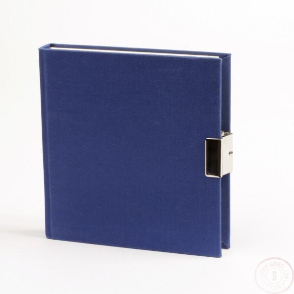 Marineblauw Dagboek Met Slot Linnen