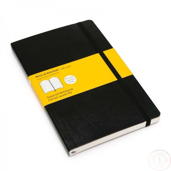 Moleskine Groot Notitieboek Geruit Softcover
