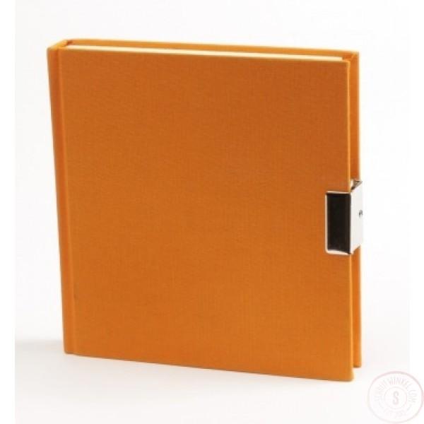 Oranje Dagboek Met Slot Linnen