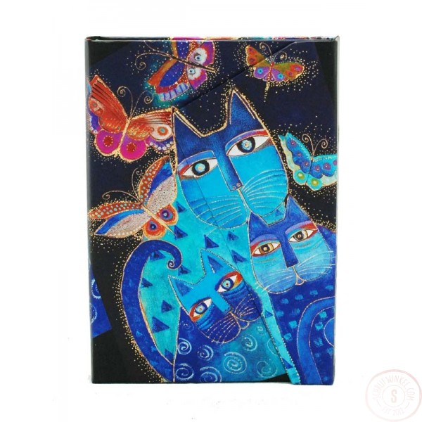 Paperblanks Blue Cats & Butterflies Midi Blanco