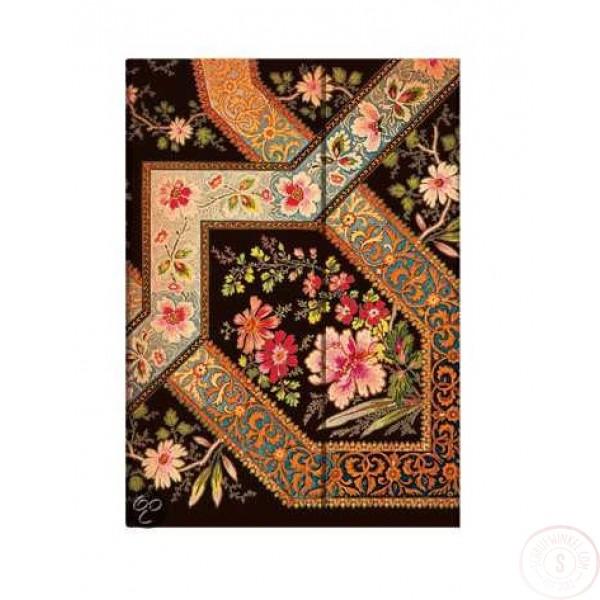 Paperblanks Filigree Floral Ebony Midi Gelinieerd