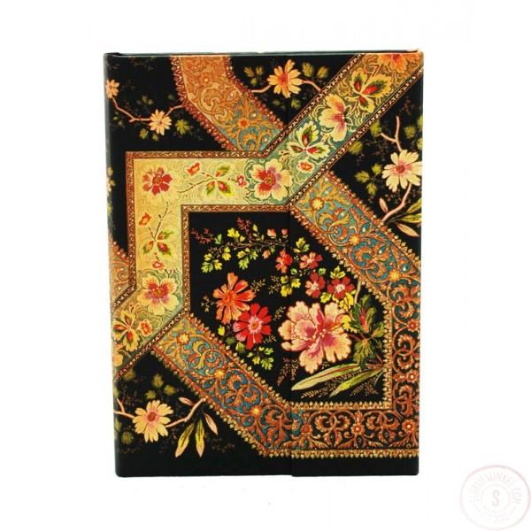 Paperblanks Filigree Floral Ebony Midi Blanco