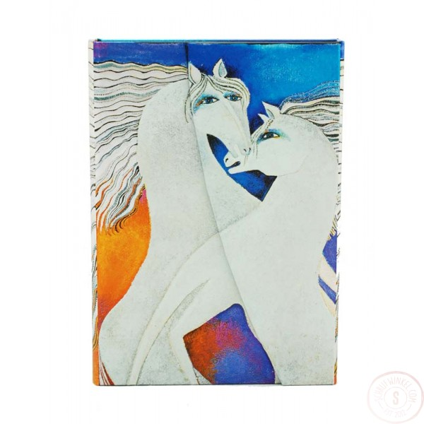 Paperblanks Paarden Dagboek Ivory Horses Midi Gelinieerd