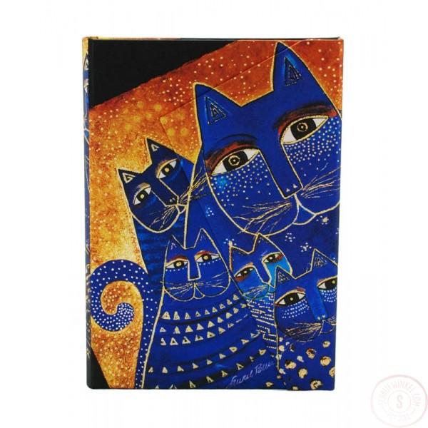 Paperblanks Mediterranean Cats Midi Gelinieerd