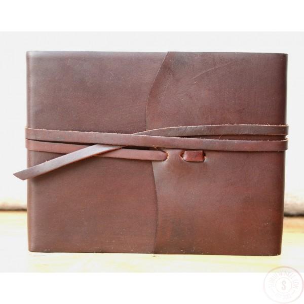 Ravello Leren Schetsboek Middelgroot Chocoladebruin