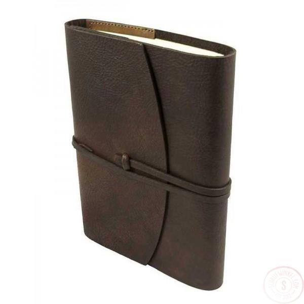 Ravenna Leren Notitieboek Groot Chocoladebruin Hervulbaar