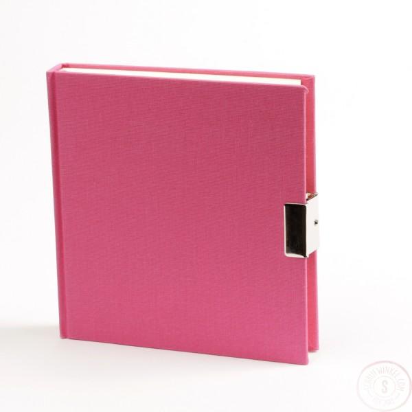 Roze Dagboek Met Slot Linnen