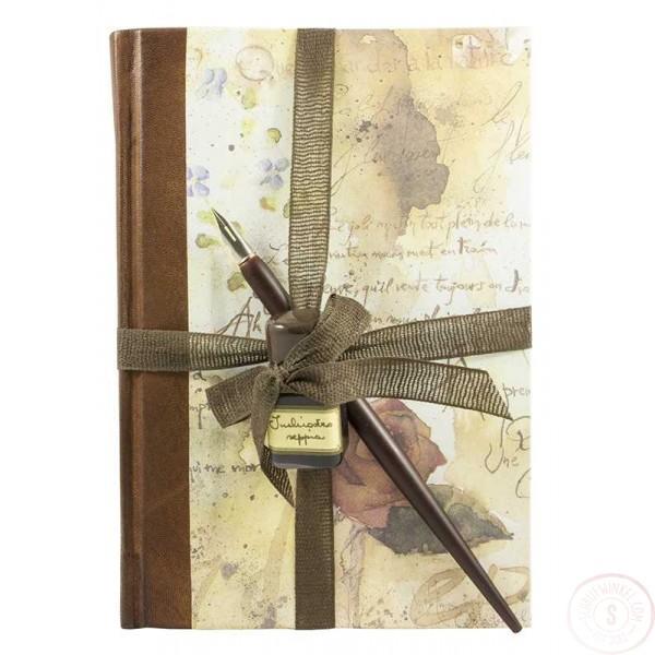 Schrijfset Rose Met Kalligrafiepapier, Kroontjespen en Inkt