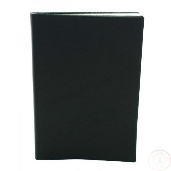 Sorrento Leren Notitieboek Groot Zwart