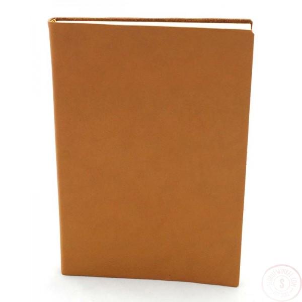 Sorrento Leren Notitieboek Groot Caramel