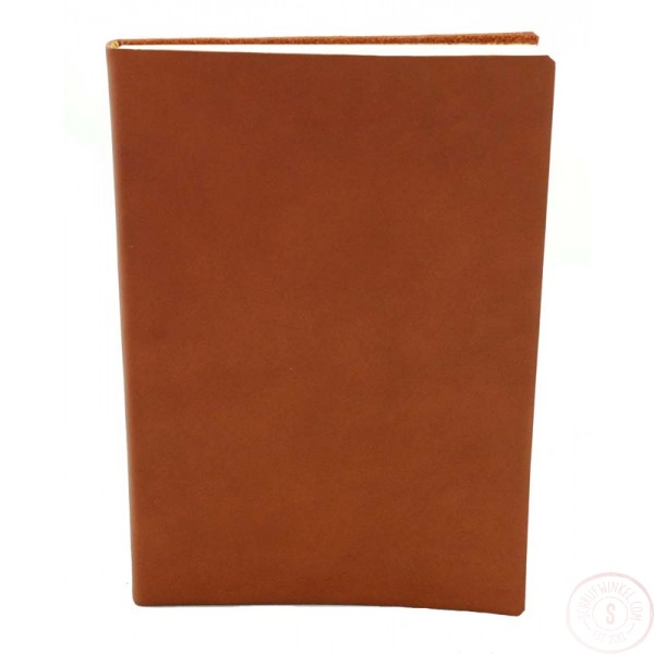 Sorrento Leren Notitieboek Groot Cognac