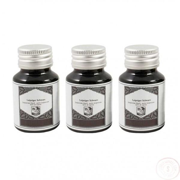 Vulpen- en Kalligrafie Inkt 50 ml Zwart 3 Inktpotjes