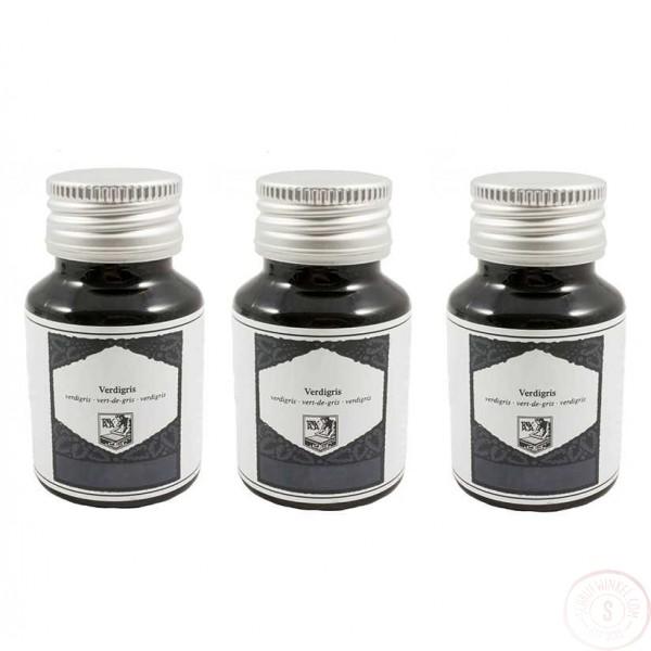 Vulpen- en Kalligrafie Inkt Zwart-Blauw 3 Inktpotjes
