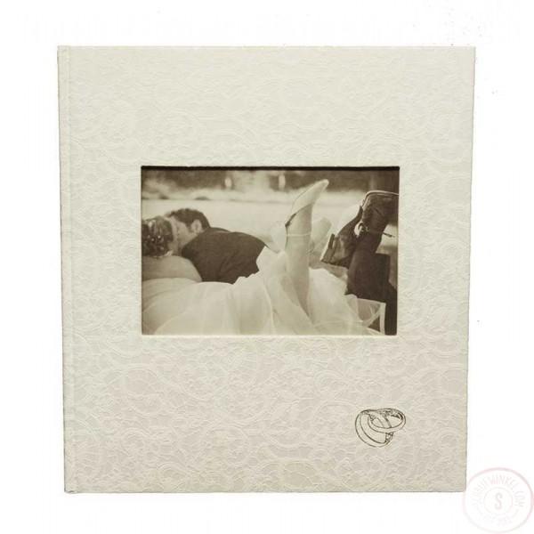 Wit Gastenboek Bruiloft met Ringen en Foto