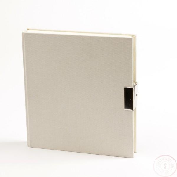 Wit Dagboek Met Slot Linnen