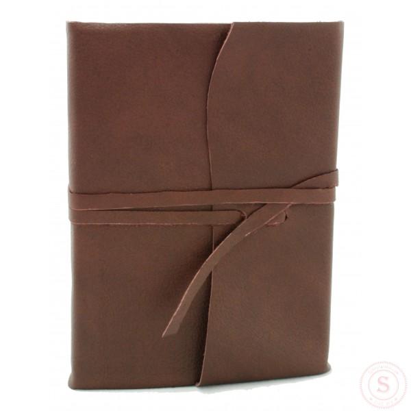 Amalfi Leren Notitieboek Chocoladebruin