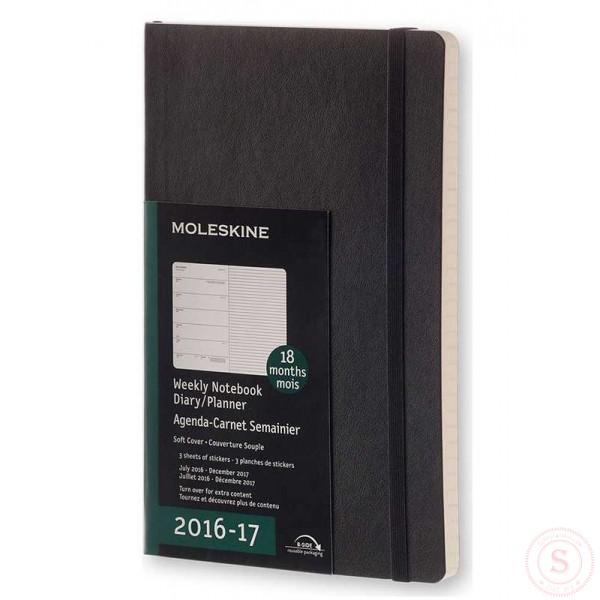 Moleskine 2016 2017 weekagenda 18 maanden large softcover for Agenda moleskine 2016 2017