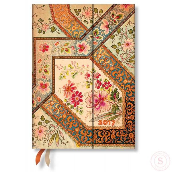 Paperblanks Weekagenda 2017 Filigree Floral Ivory Midi Nederlandstalig
