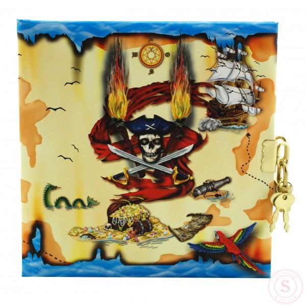 Piraten Dagboek Met Slot Blanco