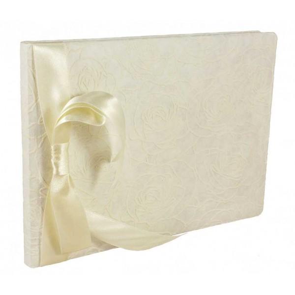 Wit Gastenboek met Rozen