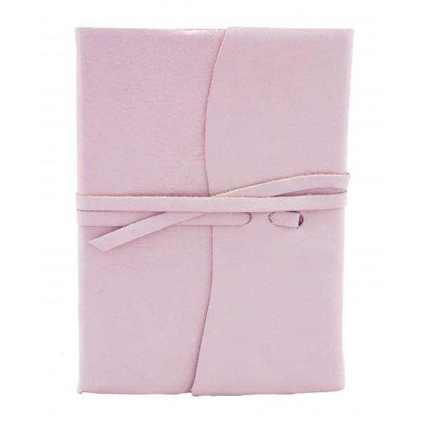 Amalfi Leren Notitieboek Zachtroze