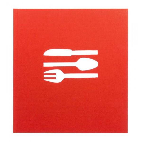 Bindewerk Blanco Receptenboek / Kookboek Rood