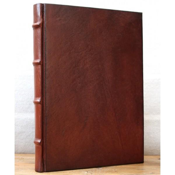 Imperia Leren Gastenboek / Notitieboek Middelgroot Chocoladebruin