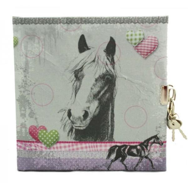 Paarden Dagboek Linnen Met Slot Blanco