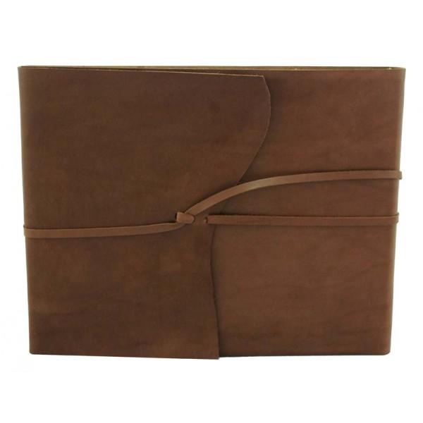 Ravello Leren Schetsboek / Gastenboek Groot Chocoladebruin