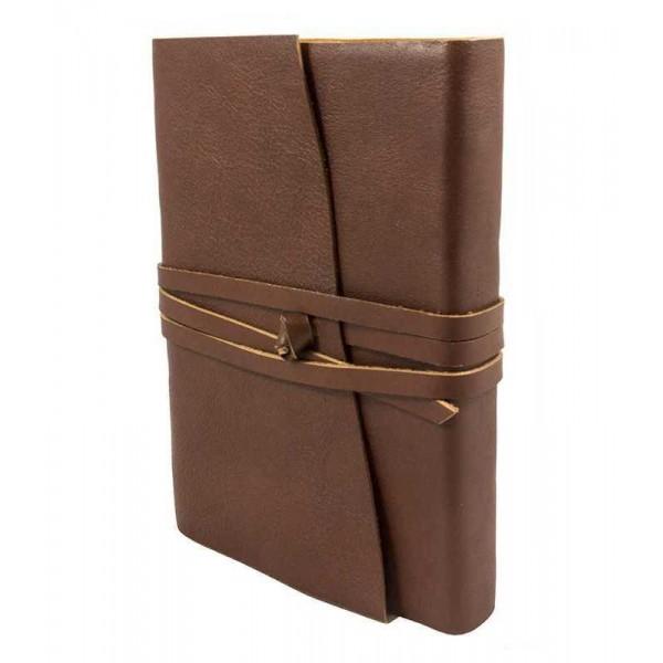 Venezia Leren Notitieboek Middelgroot Chocoladebruin