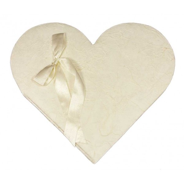 Wit Gastenboek in Hartvorm