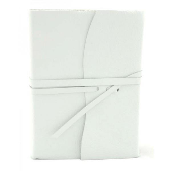 Amalfi Leren Notitieboek Groot Wit
