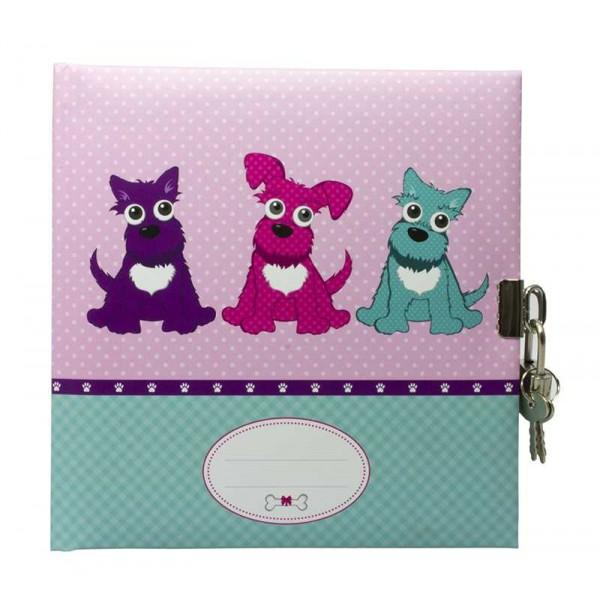 Dagboek Met Slot Drie Hondjes Blanco