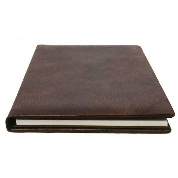 Leren Schrijfmap Chocoladebruin Classico