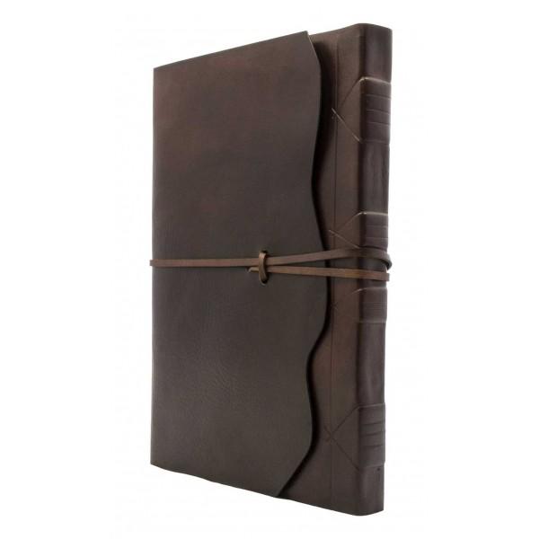 Modena Leren Notitieboek Chocoladebruin Met Handgeschept Papier Luxury