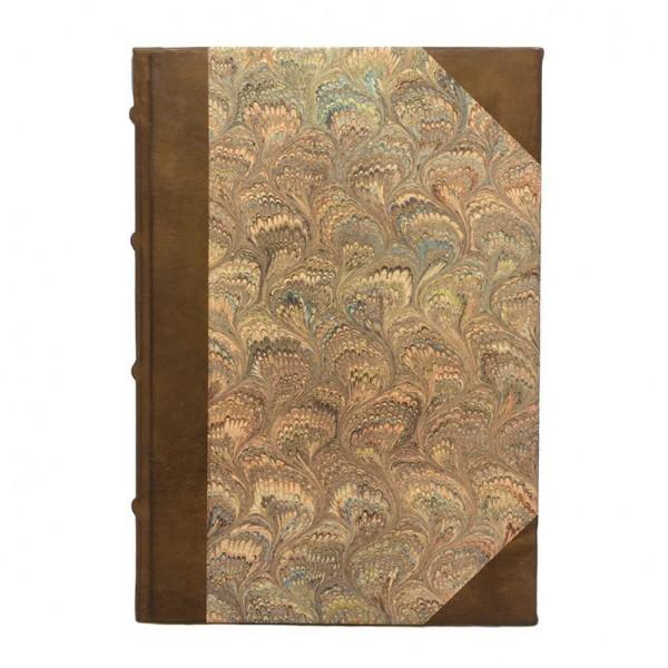 Marmo Rosa Leren Gastenboek / Notitieboek Gemarmerde Kaft