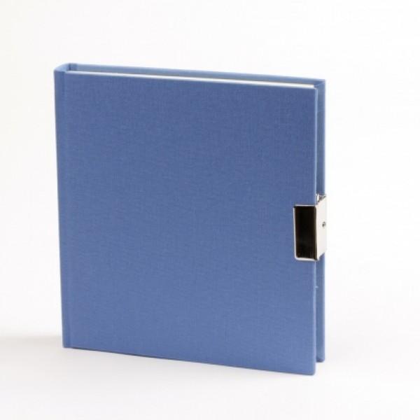 Jeansblauw Dagboek Met Slot Linnen